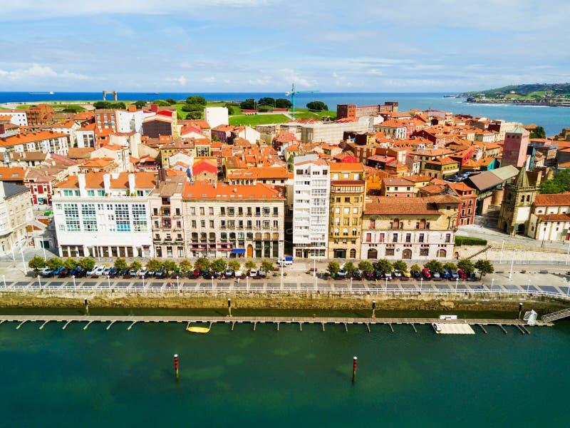 Gijon stadsjachthaven in Asturias, Spanje royalty-vrije stock foto's