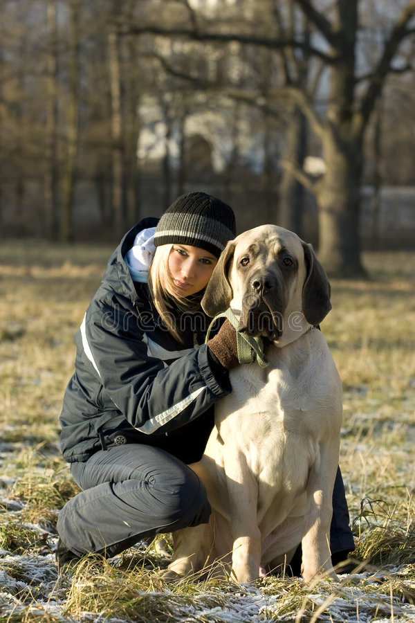 Gil with dog