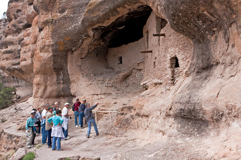 Gila Cliff Dwellings. The Gila Cliff Dwellings Nat. Mon. New Mexico.This is a small area where the Indians lived fro 1270 to 1300. They made their houses in royalty free stock images