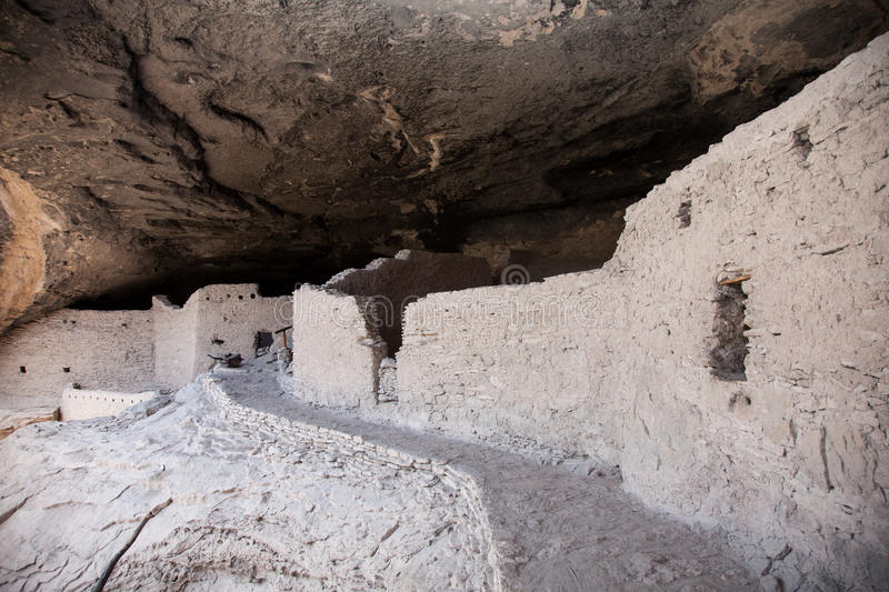 Gila Cliff Dwellings. Are located in New Mexico stock photo