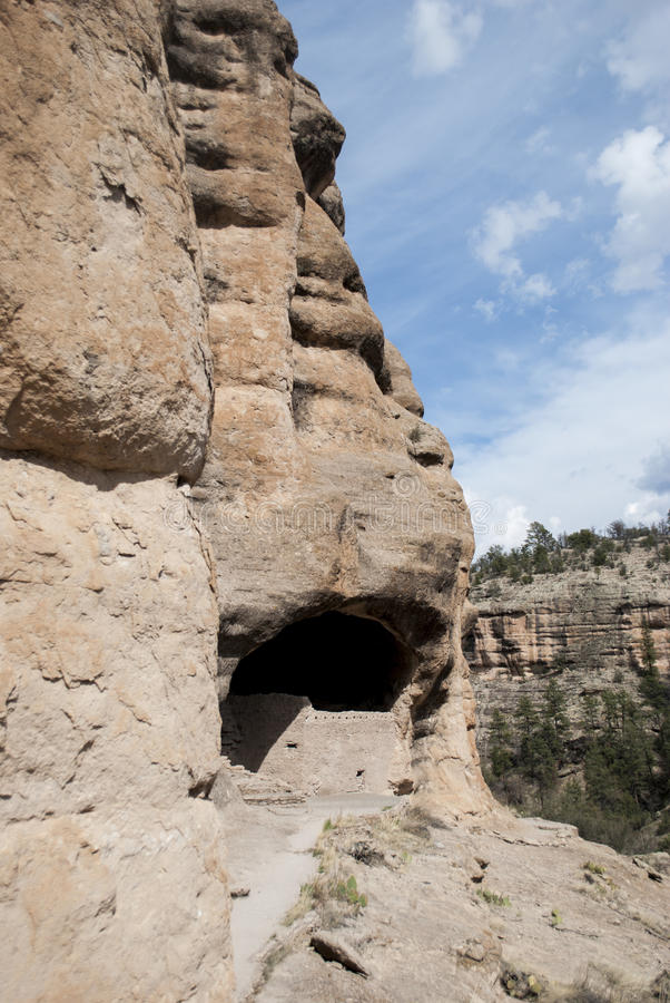 Gila Cliff Dwellings fotografia stock