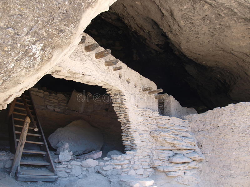 Gila Cliff Dwellings. The Gila Cliff Dwellings were built in a cave over 700 years ago by ancestors of the Puebloan people. Near Silver City, New Mexico royalty free stock photography