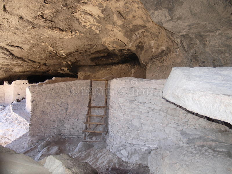 Gila Cliff Dwellings. The Gila Cliff Dwellings were built over 700 years ago by the ancestors of Puebloan Indians in southern New Mexico royalty free stock photos