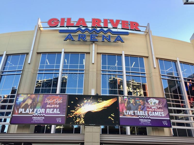Gila River Arena. Home to the Phoenix Coyotes Hockey team royalty free stock photography