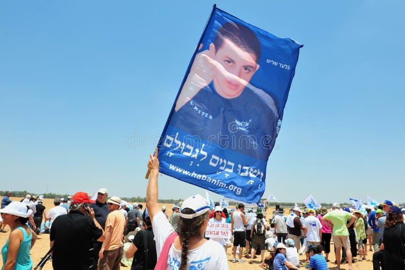 Gilad Shalit 5 ans d'abduction image stock