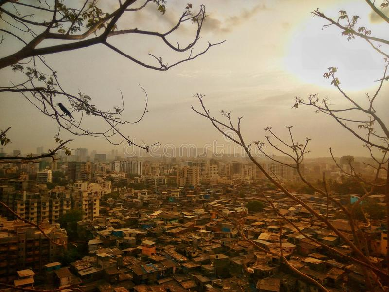 Gilbert hill. View from Gilbert hill, Mumbai royalty free stock image