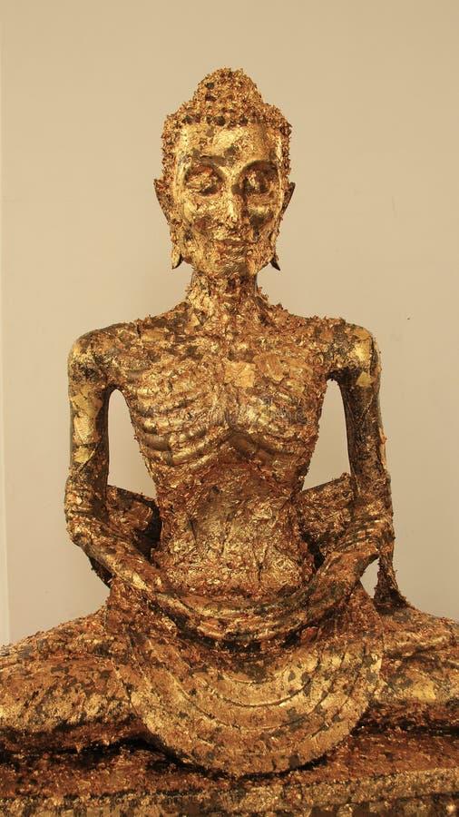gild Buddha scarno fotografia stock