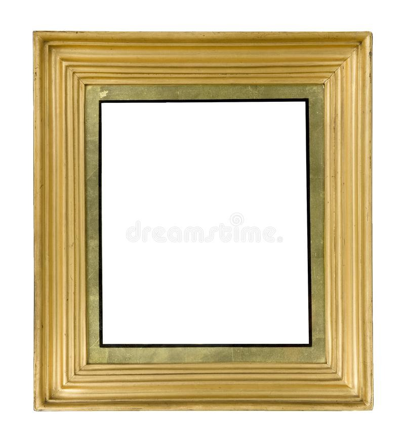 Gilded antiques wooden picture frame for wall hanging royalty free stock image