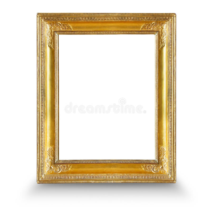 Gilded frame. Frame. Gold gilded arts and crafts pattern picture frame royalty free stock photography