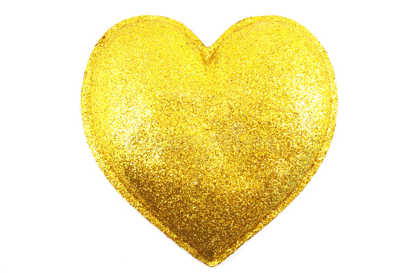 Gilded Heart Royalty Free Stock Image