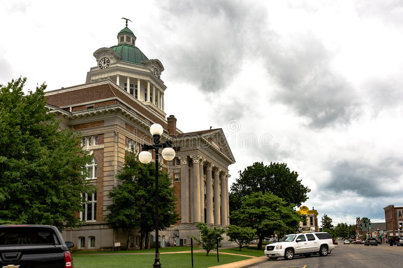 Giles County Courthouse and downtown Pulaski stock photos