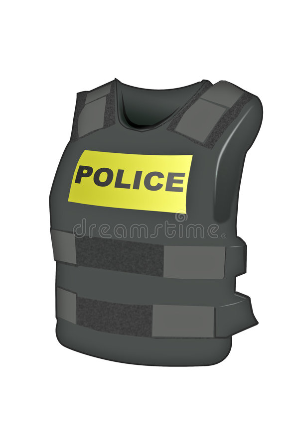 Gilet de Kevlar de police illustration libre de droits
