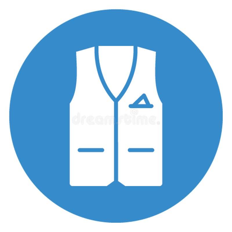 Gilet de sauvetage, icône de vecteur de conservateur de vie qui peut facilement éditer illustration stock