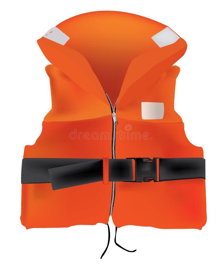 Gilet de sauvetage orange photographie stock libre de droits