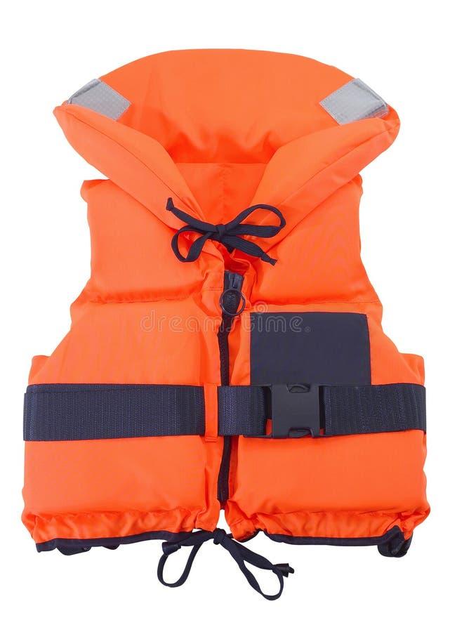 Gilet de sauvetage orange image libre de droits
