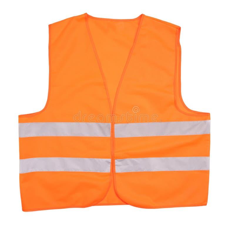 Gilet orange de sécurité. images stock
