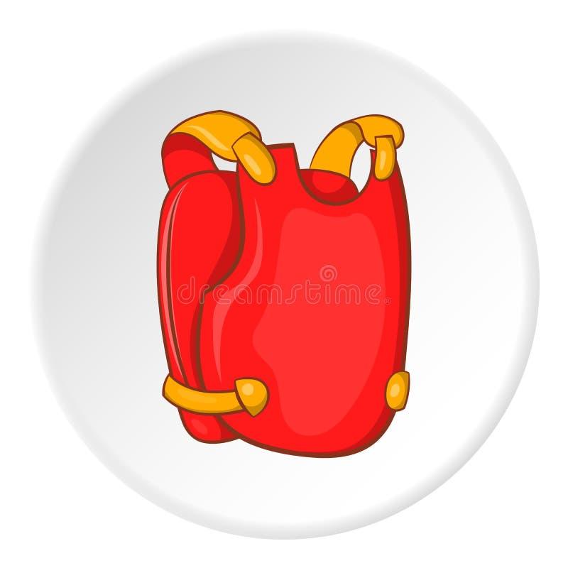 Gilet pour l'icône de paintball, style de bande dessinée illustration stock