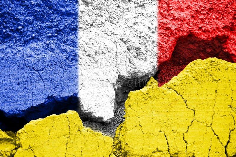 Gilets jaunes黄色背心法国危机概念 免版税库存图片