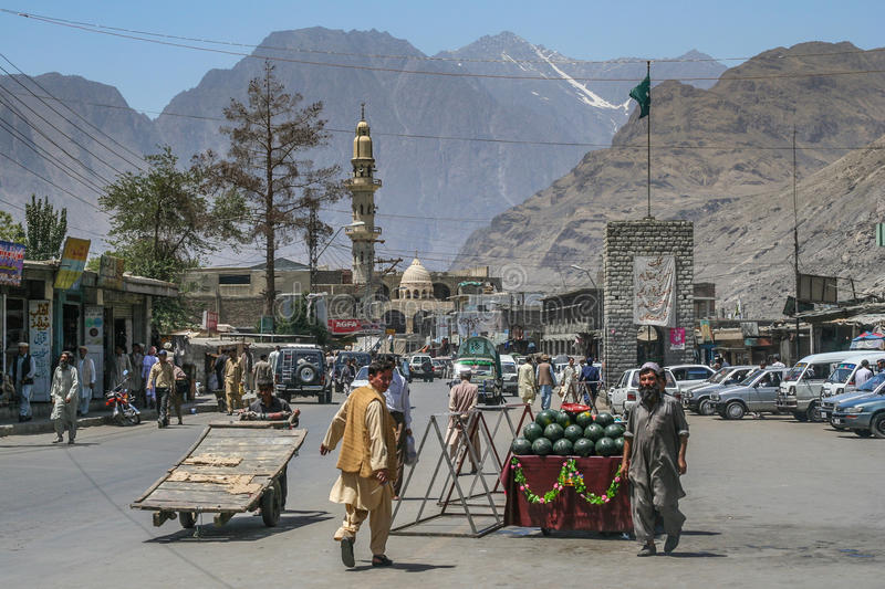Gilgit-Stadt stockfotos