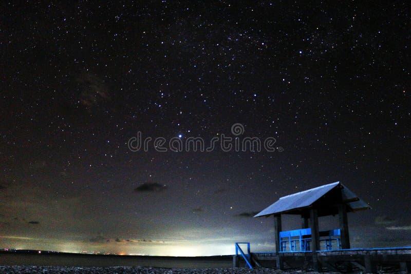 Gili Labak Night Sky immagine stock libera da diritti