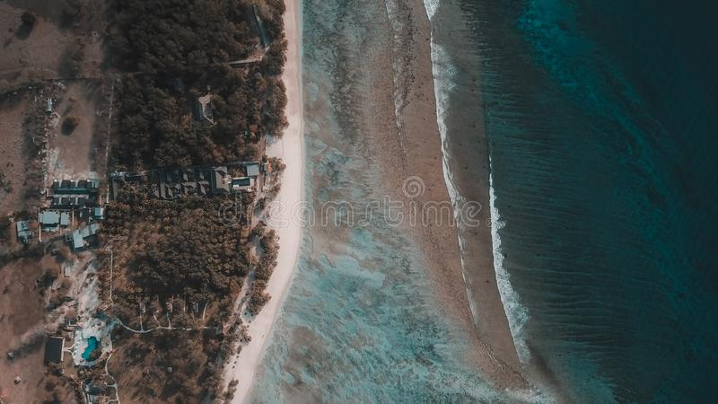 Gili Terawangan Island, Lombok, Indonesië stock afbeelding