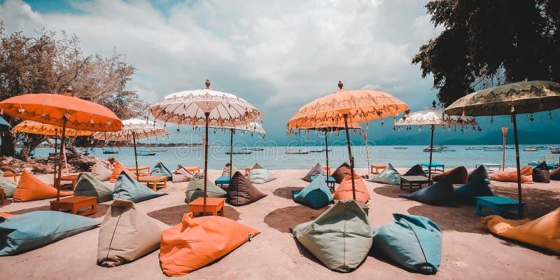 Gili Terawangan Island, Lombok, Indonesien stockbild