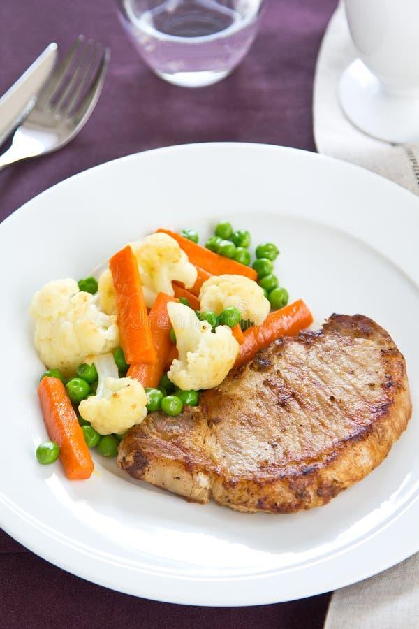 Gilled Pork [Pork Steak ] Stock Photo