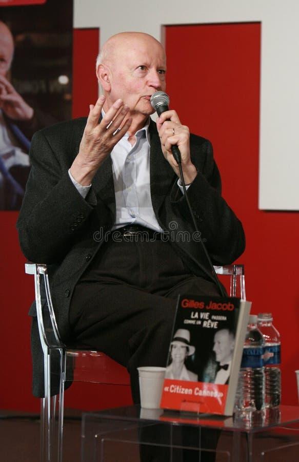 Gilles Jacob, presidente do festival de Cannes imagem de stock