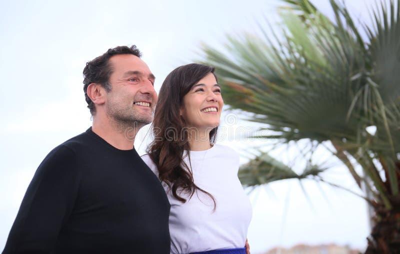 Gilles Lellouche и актриса Мелани Doutey стоковые фото
