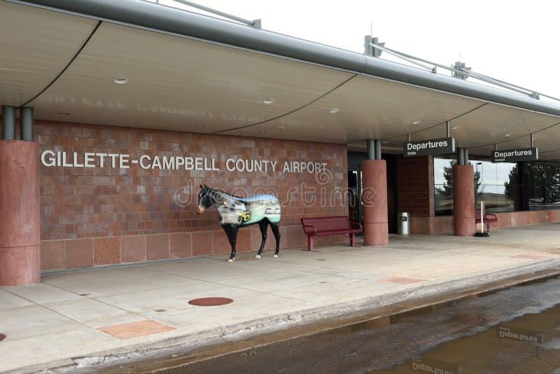 Gillette- - Campbell County-Flughafen in Gillette, Wyoming, USA lizenzfreie stockbilder