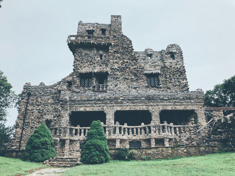 Gillette Castle-buitenkant stock afbeelding