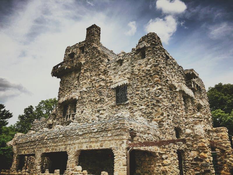 Gillette Castle-buitenkant royalty-vrije stock afbeelding