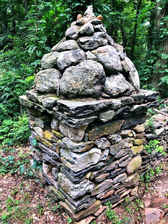 Gillette Castle-de steenbouw stock fotografie
