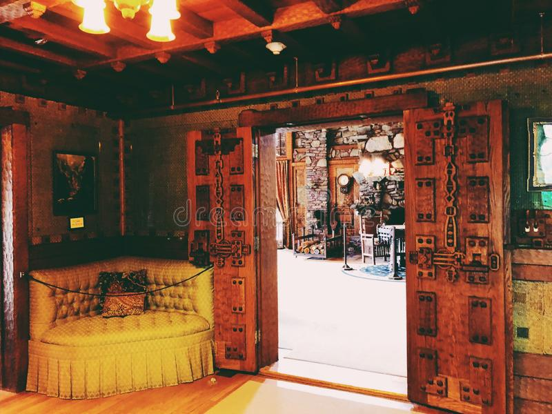 Gillette Castle interior decoration stock image