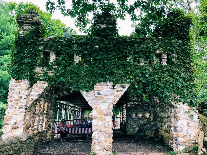 Gillette Castle stenbyggnad arkivbilder