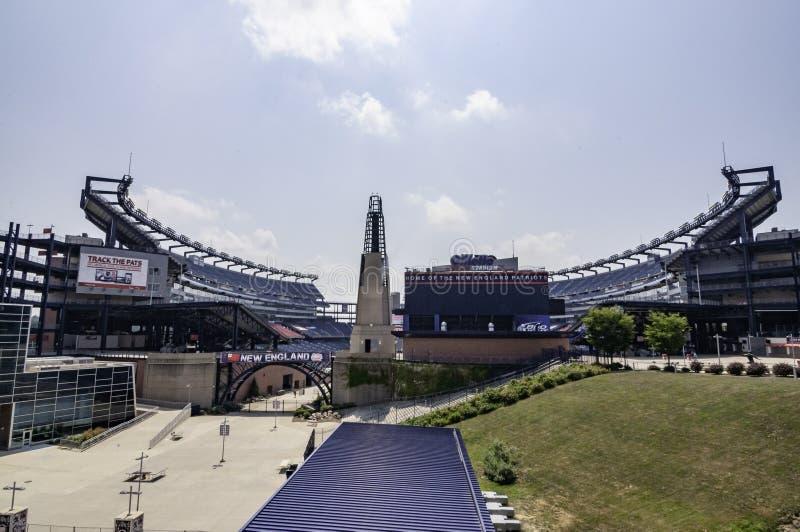 Gillette Stadium, dom Patriotów Nowej Anglii obraz stock