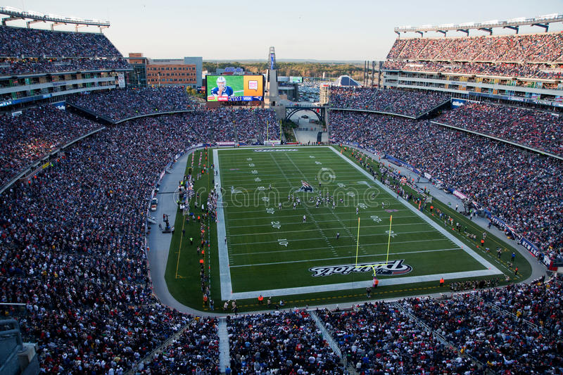 Gillette stadium general view stock photo