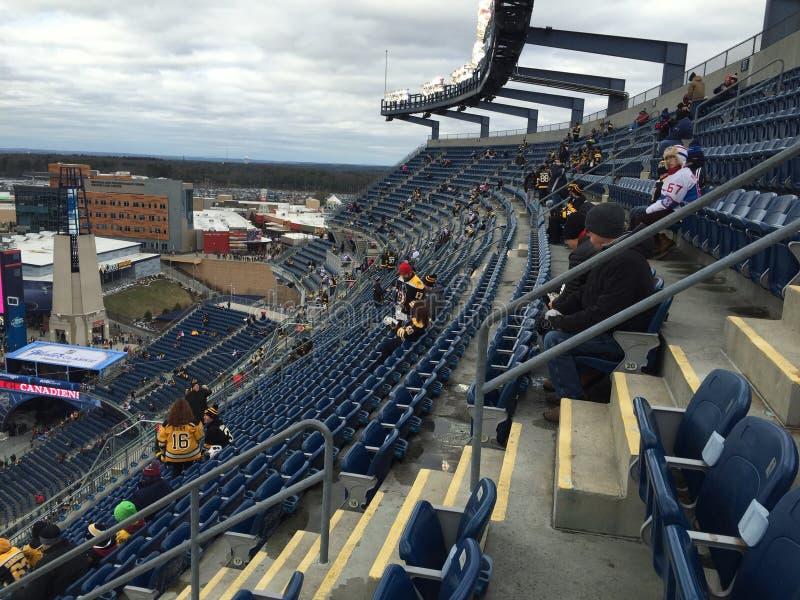Gillette Stadium Jan 2016 1er photo libre de droits