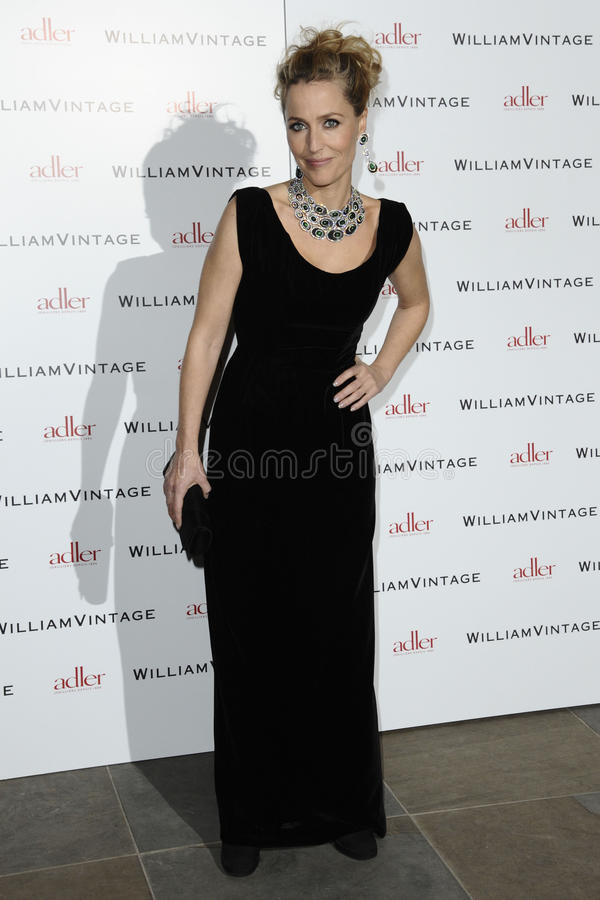Gillian Anderson. Arriving for the William Vintage dinner at the Renaissance Hotel St Pancras, London. 10/02/2012 Picture by: Steve Vas / Featureflash royalty free stock image