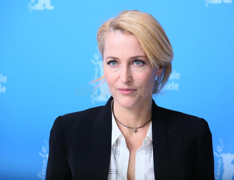 Gillian Anderson attends the `Viceroy`s House` stock photography