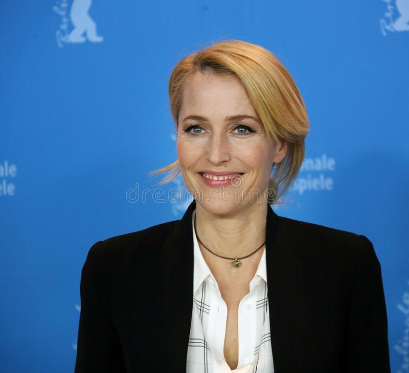 Gillian Anderson attends the `Viceroy`s House` royalty free stock image