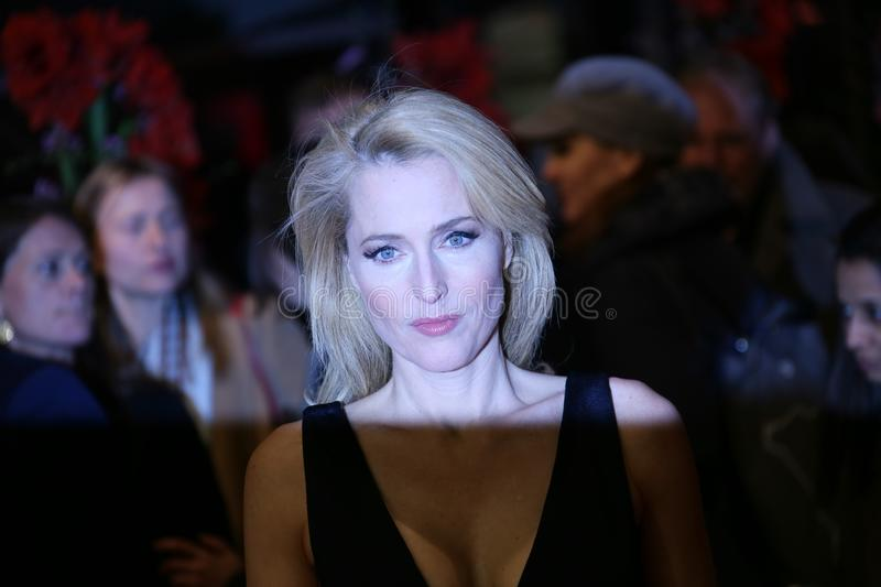 Gillian Anderson attends the `Viceroy`s House` royalty free stock photos