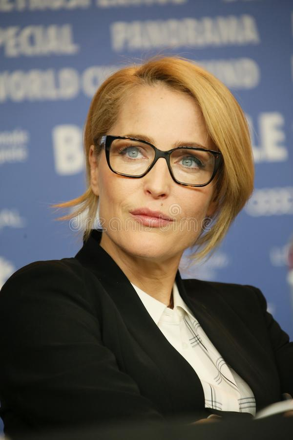 Gillian Anderson attends the `Viceroy`s House` royalty free stock images
