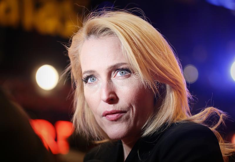 Gillian Anderson attends the `Viceroy`s House` stock photo
