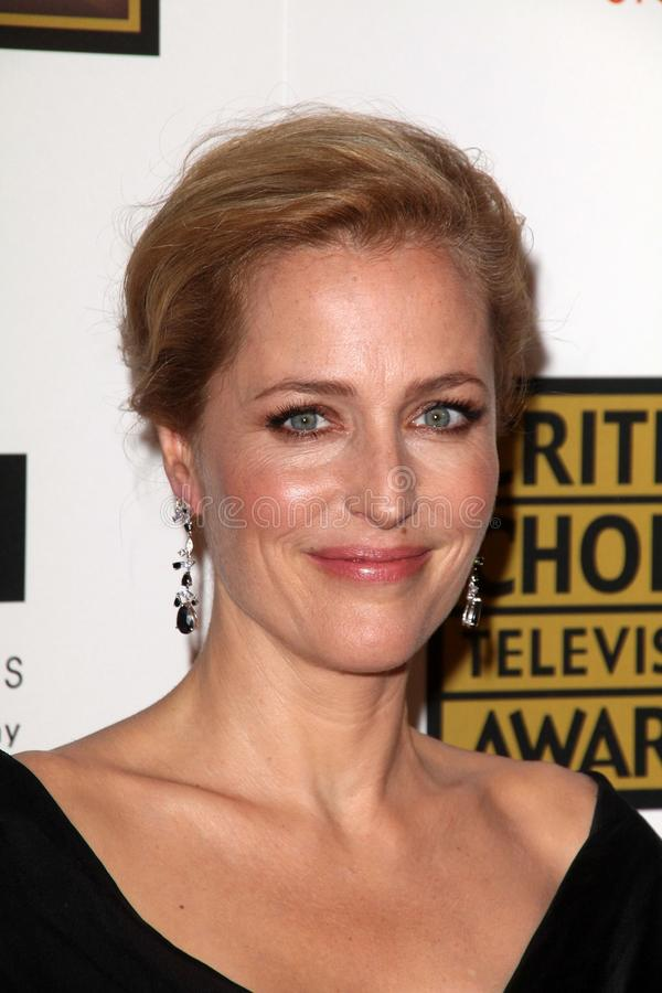 Gillian Anderson at the Second Annual Critics' Choice Television Awards, Beverly Hilton, Beverly Hills, CA 06-18-12 stock photo