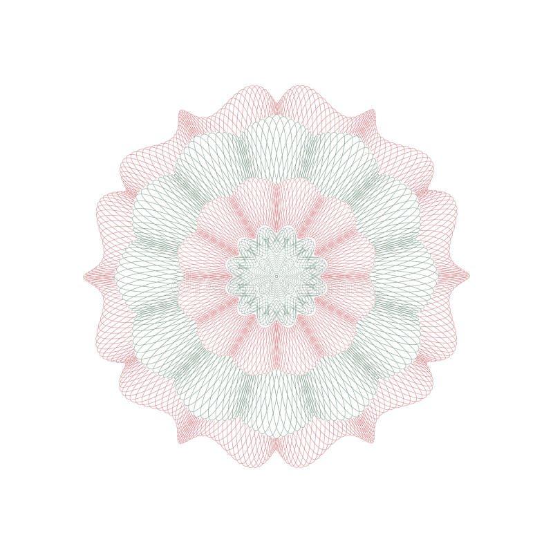 Giloszuje dekoracyjnego różyczkowego element ilustracji