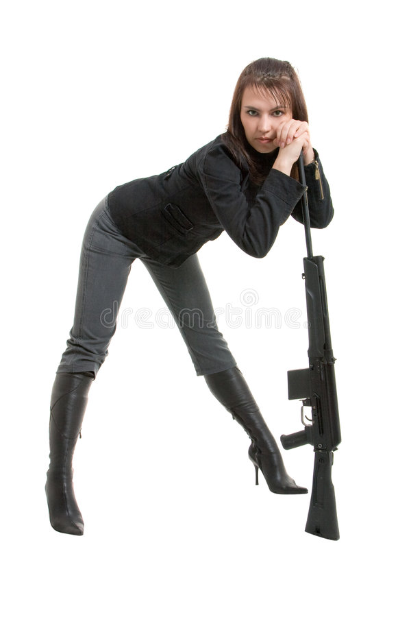 Download Gils with guns stock image. Image of beauty, american - 8646477