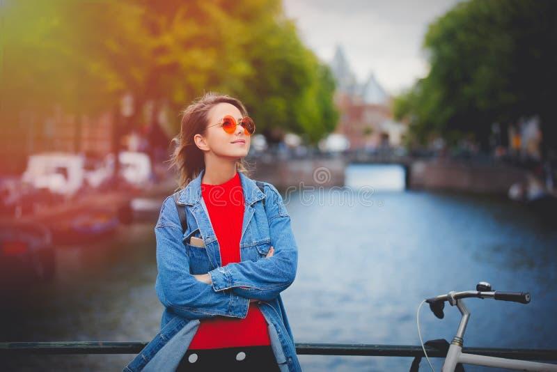 Gim nos óculos de sol em Amsterdão, outono imagem de stock