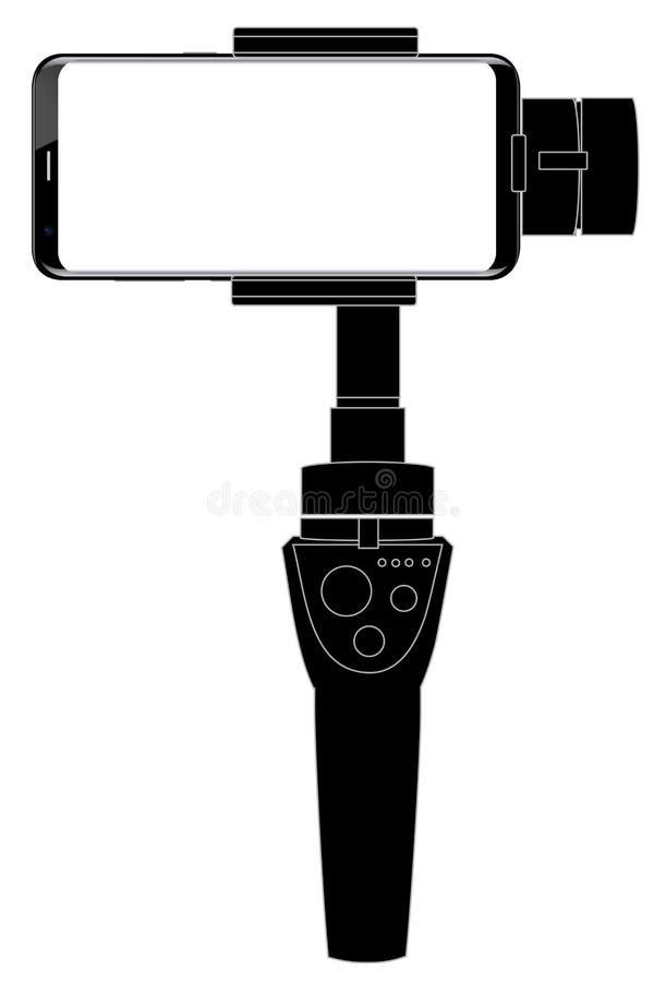 Gimbal stabilizator dla smartphone ilustracji