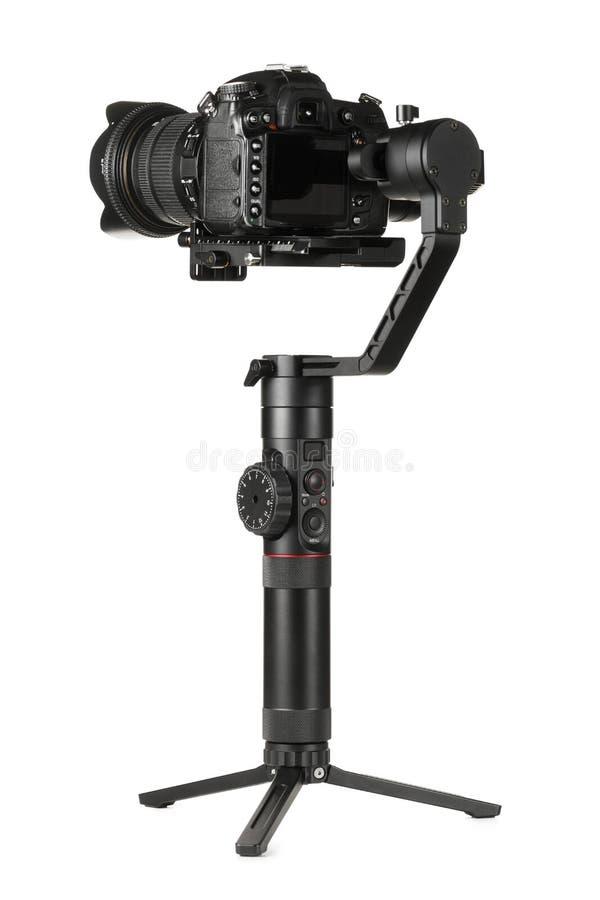 Gimbal stabilizator z kamer? zdjęcie stock
